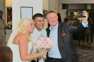 Wedding Magician Preston with Couple